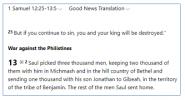 1 Samuel 13.1 GNT.PNG